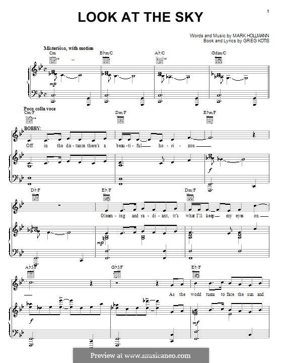 Look at the Sky: Für Stimme und Klavier (oder Gitarre) by Greg Kotis, Mark Hollmann