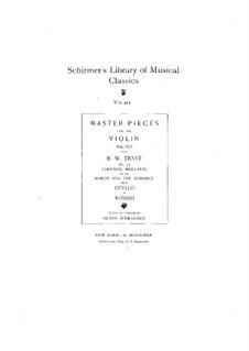 Fantasie brillante auf Marsch und Romanze aus 'Otello' von Rossini, Op.11: Für Violine und Klavier by Heinrich Wilhelm Ernst
