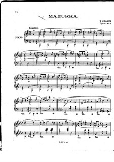Mazurkas, Op.33: Nr.3 in C-Dur by Frédéric Chopin