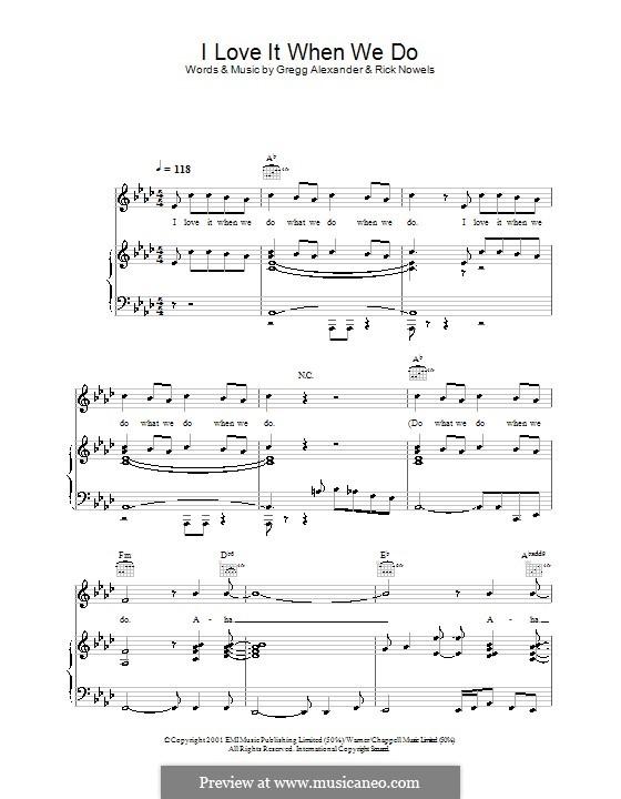 I Love It When We Do (Ronan Keating): Für Stimme und Klavier (oder Gitarre) by Gregg Alexander, Rick Nowels