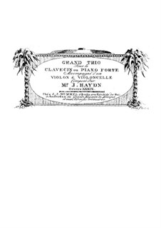 Klaviertrio Nr.27 in As-Dur, Hob.XV/14: Klavierstimme by Joseph Haydn