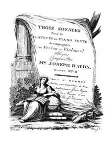 Klaviertrios (Sammlung), Hob.XV: Nr.9-10 by Joseph Haydn