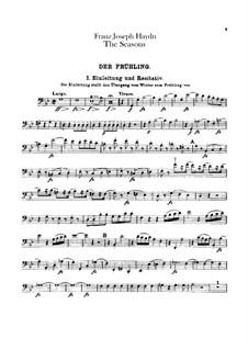 Die Jahreszeiten, Hob.XXI/3: Cellostimme by Joseph Haydn