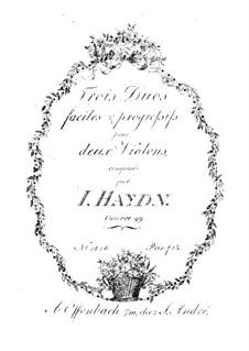 Drei Duets für zwei Violinen, Op.99: Drei Duets für zwei Violinen by Joseph Haydn