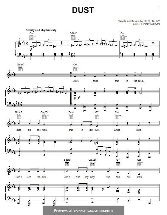 Dust: Für Stimme und Klavier (oder Gitarre) by Johnny Marvin