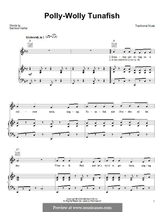 Polly-Wolly Tunafish: Für Stimme und Klavier (oder Gitarre) by Garrison Keillor