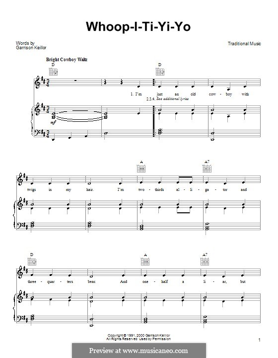 Whoop-I-Ti-Yi-Yo: Für Stimme und Klavier (oder Gitarre) by Garrison Keillor