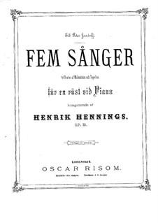 Fünf Lieder, Op.12: Fünf Lieder by Henrik Hennings