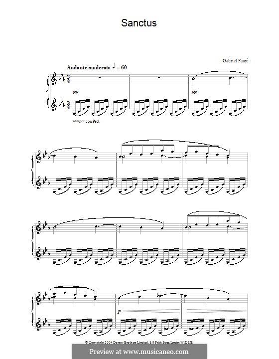 Sanctus: Für Klavier by Gabriel Fauré