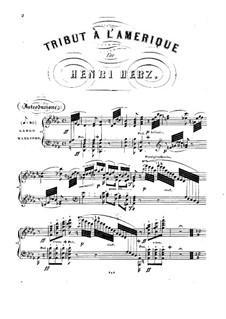 Tribute à l'Amerique. Notturno et Polka de concert, Op.161: Tribute à l'Amerique. Notturno et Polka de concert by Henri Herz