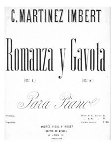 Romanze und Gavotte: Romanze und Gavotte by Claudio Martinez Imbert