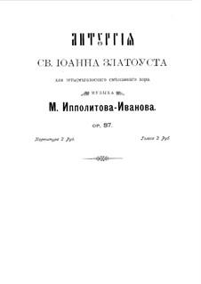 Liturgy of St. John Chrysostom, Op.37: Klavierauszug mit Singstimmen by Michail Ippolitow-Iwanow