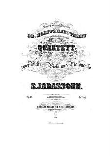 Streichquartett in c-Moll, Op.10: Stimmen by Salomon Jadassohn