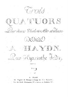 Drei Streichquartette, Op.1: Drei Streichquartette by Hyacinthe Jadin