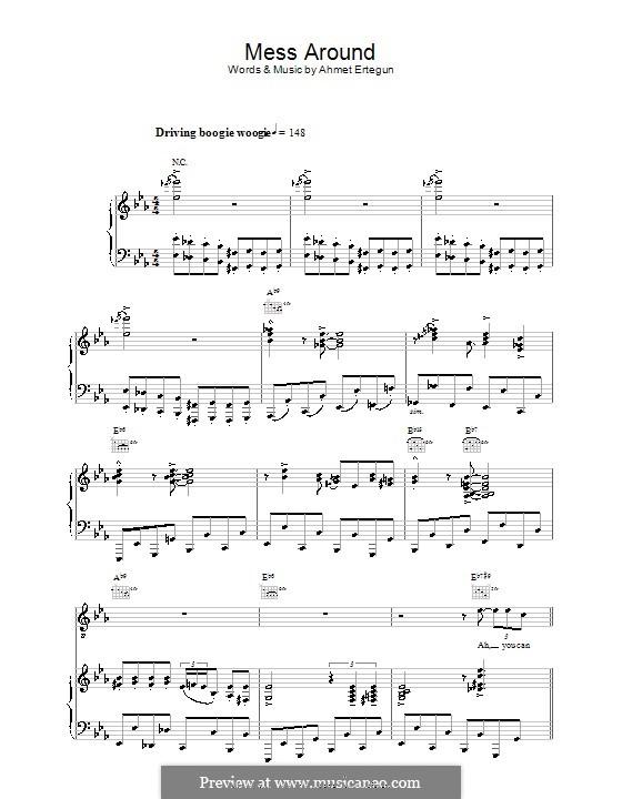 Mess Around (Ray Charles): Für Stimme und Klavier (oder Gitarre) by Ahmet Ertegun