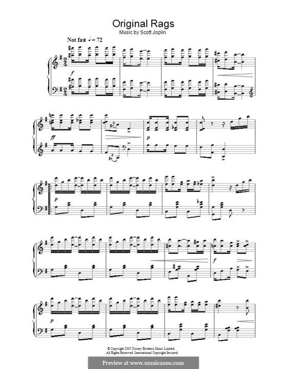 Original Rags: Für Klavier by Scott Joplin