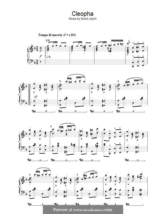 Cleopha: Für Klavier by Scott Joplin