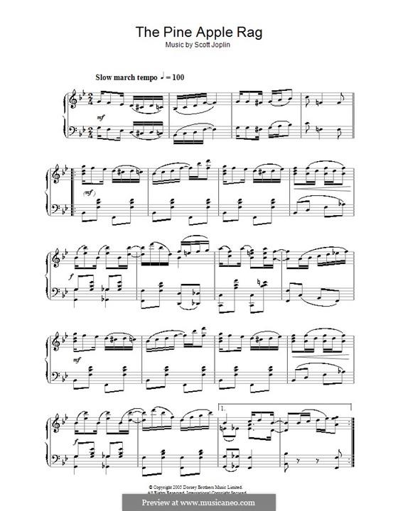 Pineapple Rag: Für Klavier (Noten von hohem Qualität) by Scott Joplin