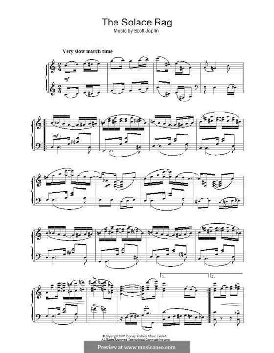 Solace: Für Klavier by Scott Joplin