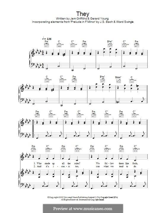 They (Jem): Für Stimme und Klavier (oder Gitarre) by Gerard Young, Jemma Griffiths, Ward Swingle