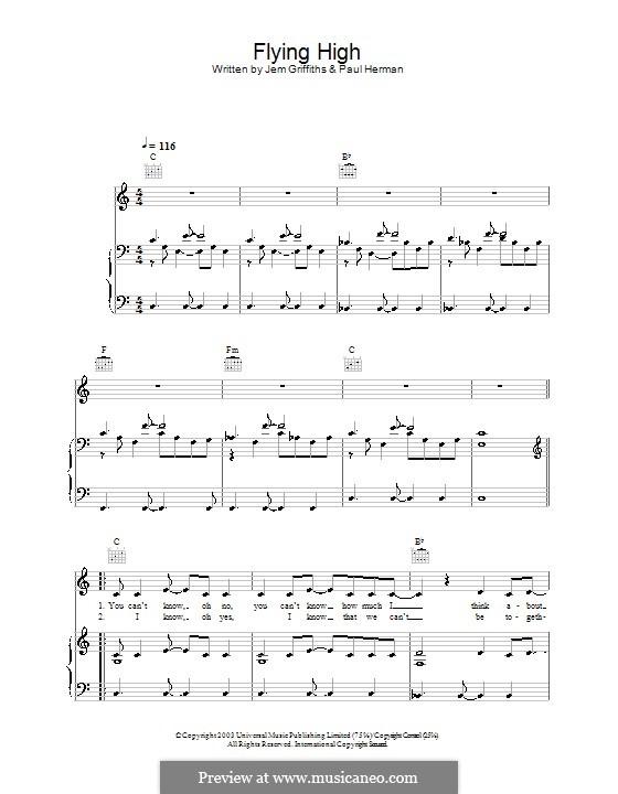 Flying High (Jem): Für Stimme und Klavier (oder Gitarre) by Jemma Griffiths, Paul Herman
