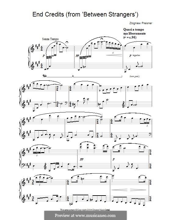 End Credits (from Between Strangers): Für Klavier by Zbigniew Preisner