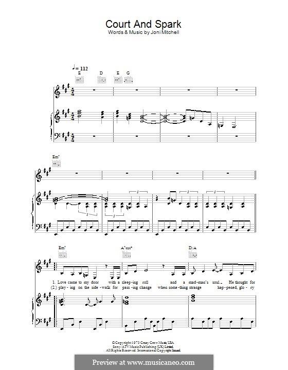 Court and Spark: Für Stimme und Klavier (oder Gitarre) by Joni Mitchell