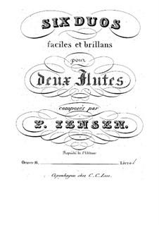 Sechs Duette für zwei Flöten, Op.16: Sechs Duette für zwei Flöten by Niels Peter Jensen