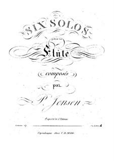 Sechs Solos für Flöte, Op.17: Sechs Solos für Flöte by Niels Peter Jensen