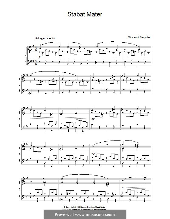 Stabat Mater: Klavierauszug mit Singstimmen (English text) by Giovanni Battista Pergolesi