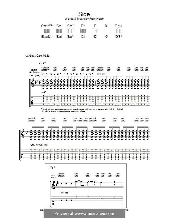 Side (Travis): Für Gitarre mit Tabulatur by Fran Healy