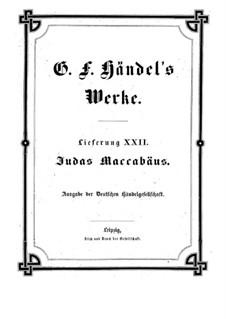 Judas Makkabäus, HWV 63: Vollpartitur by Georg Friedrich Händel