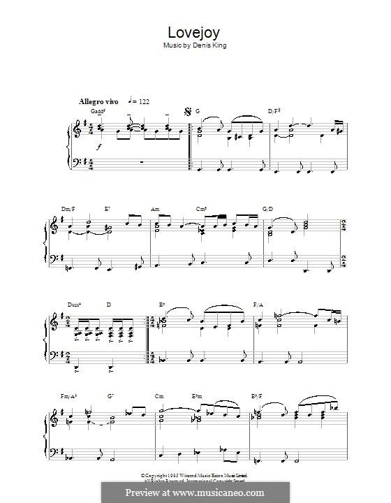 Theme from Lovejoy: Für Klavier by Denis King