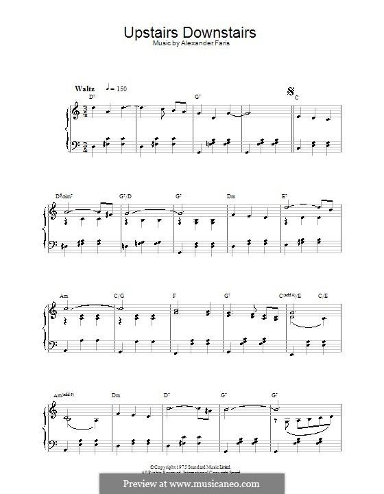 Upstairs Downstairs: Für Klavier by Alexander Faris
