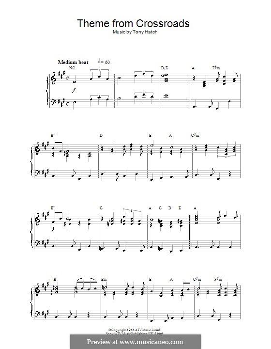 Theme from Crossroads: Für Klavier by Tony Hatch