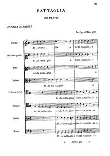 Alla battaglia o forti caualieri: Alla battaglia o forti caualieri by Andrea Gabrieli