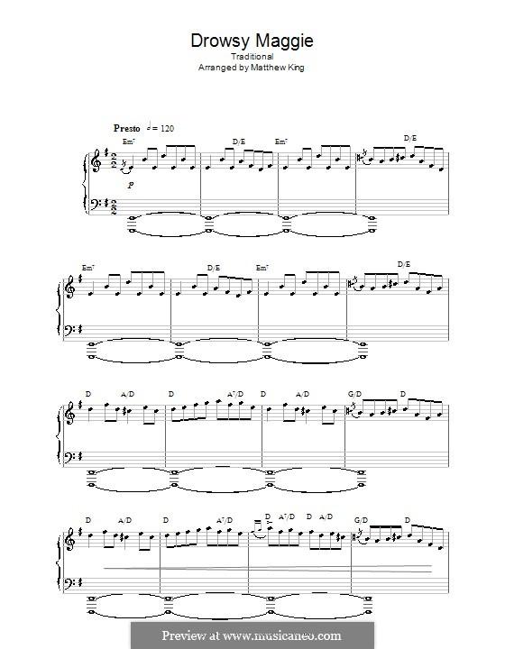 Drowsy Maggie: Für Klavier by folklore