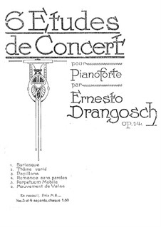 Sechs Konzert-Etüden, Op.14: Nr.1 Burlesque by Ernesto Drangosch