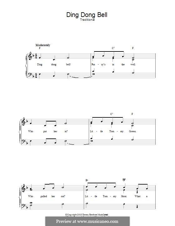 Ding Dong Bell: Für Stimme und Klavier by folklore
