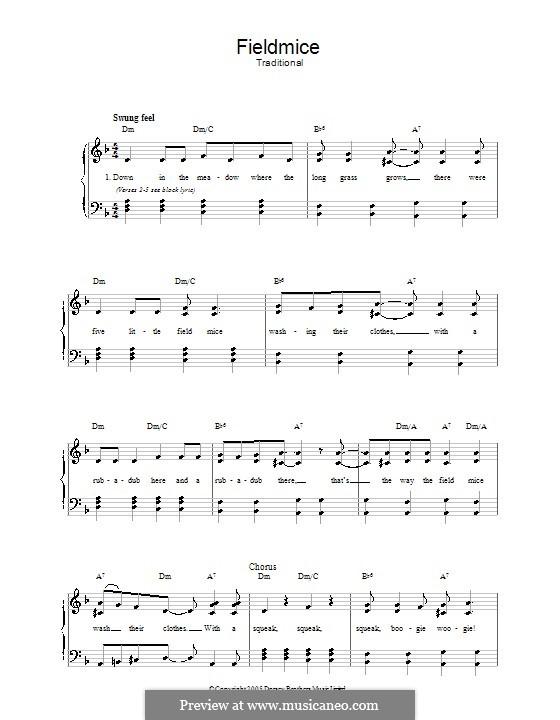 Fieldmice: Für Stimme und Klavier by folklore