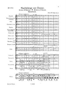 Efterklange af Ossian (Nachklänge von Ossian). Ouvertüre, Op.1: Vollpartitur by Niels Wilhelm Gade
