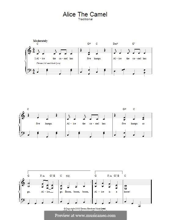 Alice the Camel: Für Stimme und Klavier by folklore