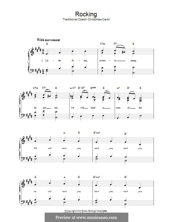 Rocking: Für Klavier, leicht by folklore