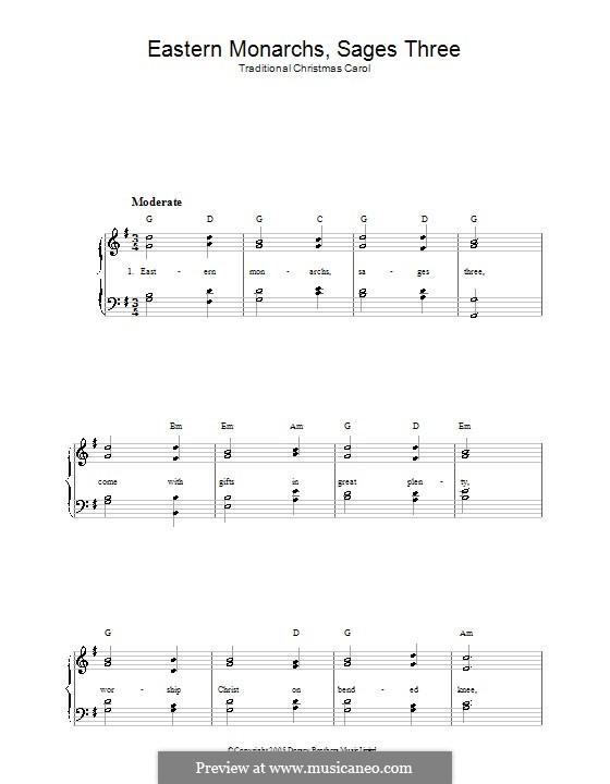 Eastern Monarchs, Sages Three: Für Stimme und Klavier by folklore