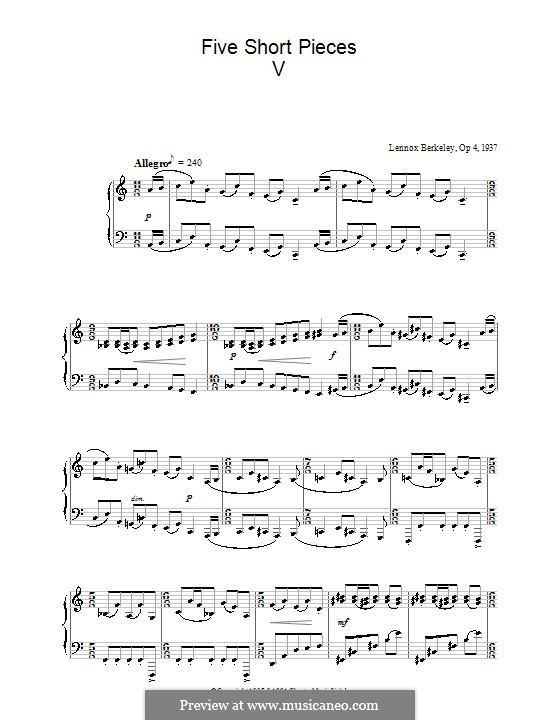 Five Short Pieces, Op.4: Stück Nr.5 by Lennox Berkeley