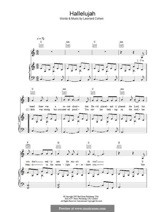 Piano-vocal score: Für Stimme und Klavier (oder Gitarre) by Leonard Cohen