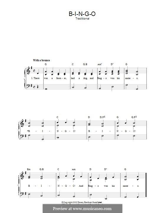 Bingo: Für Stimme und Klavier by folklore