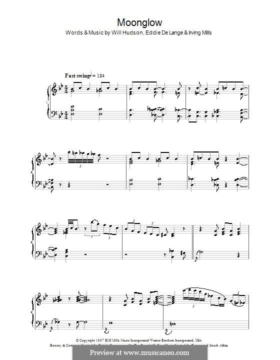 Moonglow: Für Klavier by Irving Mills, Eddie De Lange, Will Hudson