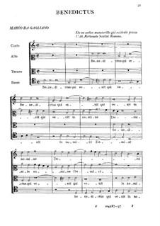 Benedictus: Benedictus by Marco da Gagliano