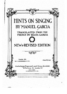 Hints on Singing: Hints on Singing by Manuel Garcia
